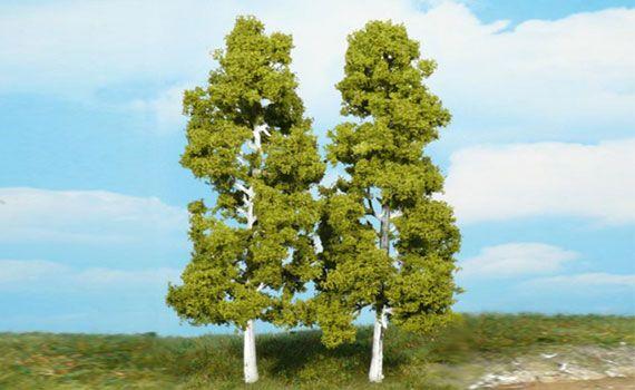 Zwei rund 18cm hohe gleichartige Birken sind im Lieferumfang enthalten.