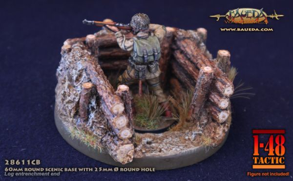 Wooden Barricade Square - 60mm Round Scenic Base