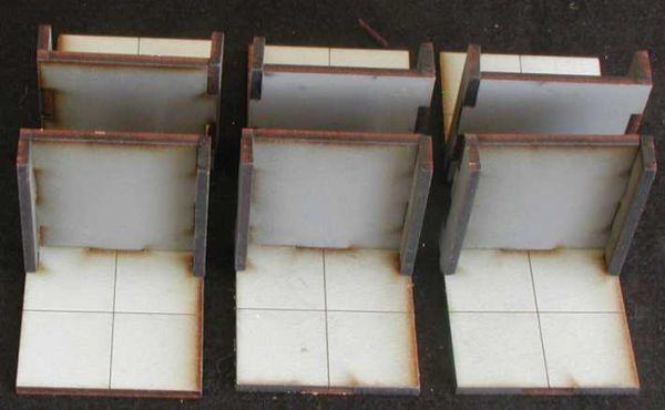 Diese 6 Wände inkl. Bodenplatten sind im Lieferumfang enthalten. Modulares Terra-Blocks™ Gelände von Sally 4th