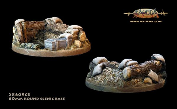 Foxhole - 60mm Round Scenic Base