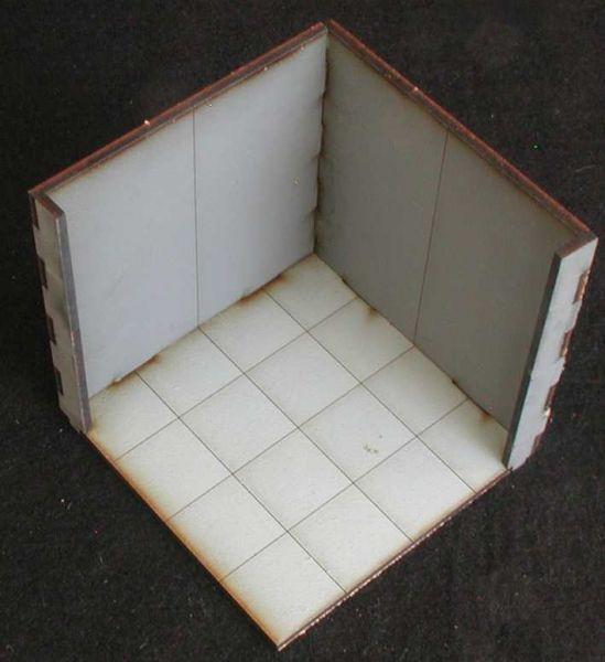 Solch ein Eckmodul mit hohen Wänden ist 2 mal im Lieferumfang enthalten. Modulares Terra-Blocks™ Gelände von Sally 4th