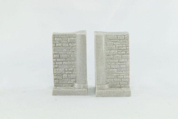 3cm Half Pillar and wall x2