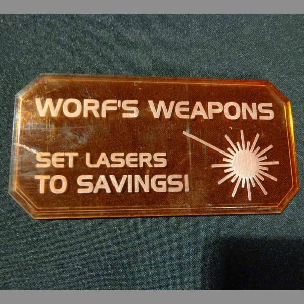 Sign H (Worf's Weapons) - Sci-Fi Scenics