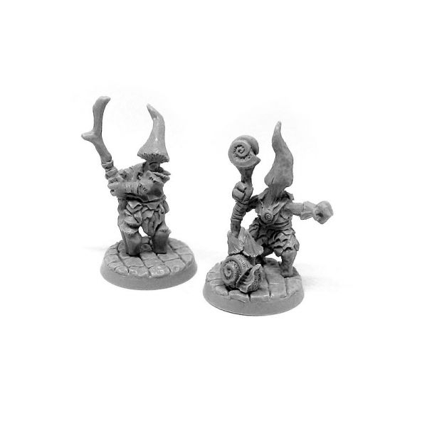 Myconid Wizard and Apprentice / Pilzzauberer und Lehrling