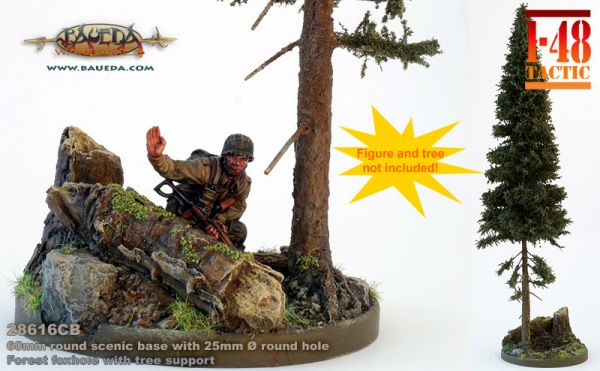 Forest Foxhole - 60mm Round Scenic Base