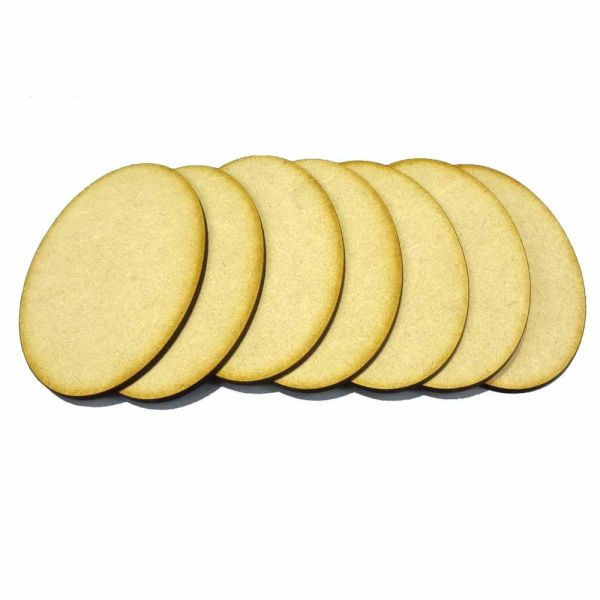 MDF Oval Bases 105mm x 70mm