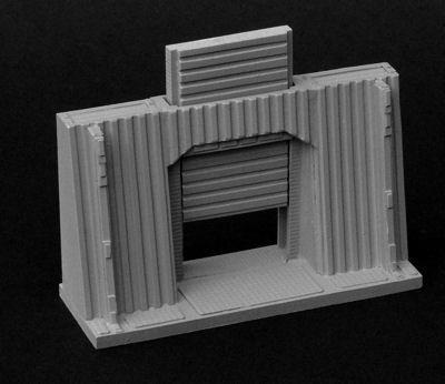 9cm Blastwall with Door