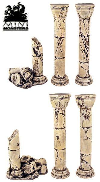 Säulen, gestaltet und bemalt