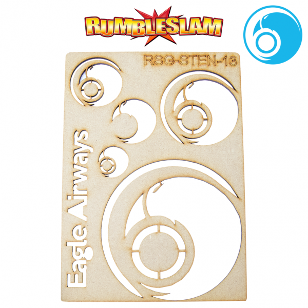 RUMBLESLAM Sponsor Logo Stencil - Eagle Airways