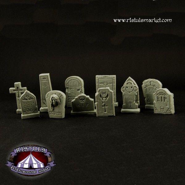 Fantasy Graveyard Tombstones / Grabsteine von Ristuls