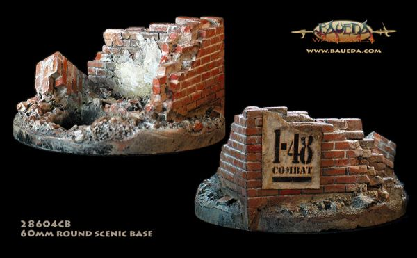 Residential Building Corner - 60mm Round Scenic Base