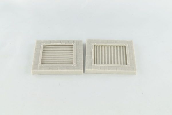 6cm x 6cm Dungeon Floor with Barred Opening x2