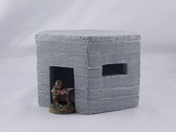 Britischer pillbox Bunker aus Resin. 28mm bis 32mm Figuren