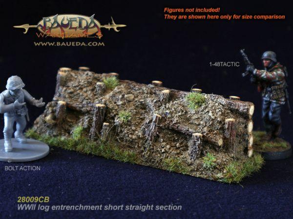 Log entrenchment corner / Holzstamm Stellung