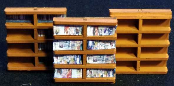 Diese 3 Regale sind im Lieferumfang enthalten. Der Inhalt ist nicht dabei. Modulares Terra-Blocks™ Tabletop Gelände von Sally 4th