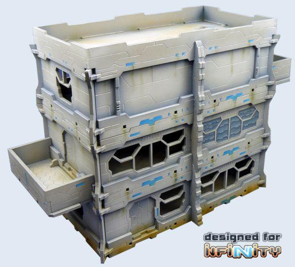 Inifinity Gebäude aus HDF, auch für MERC Tabletop geeignet
