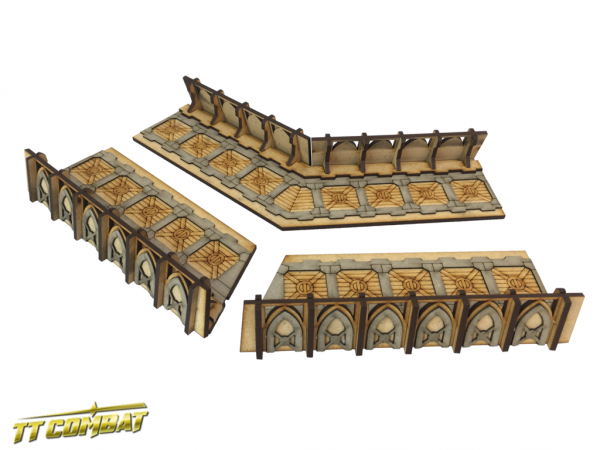 Fortified Trench Large Corner Sections - Sci-Fi-Gothic Scenics