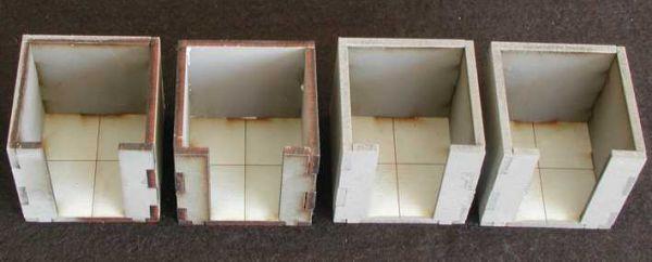 Diese 4 Räume inkl. Bodenplatten sind im Lieferumfang enthalten. Modulares Terra-Blocks™ Gelände von Sally 4th