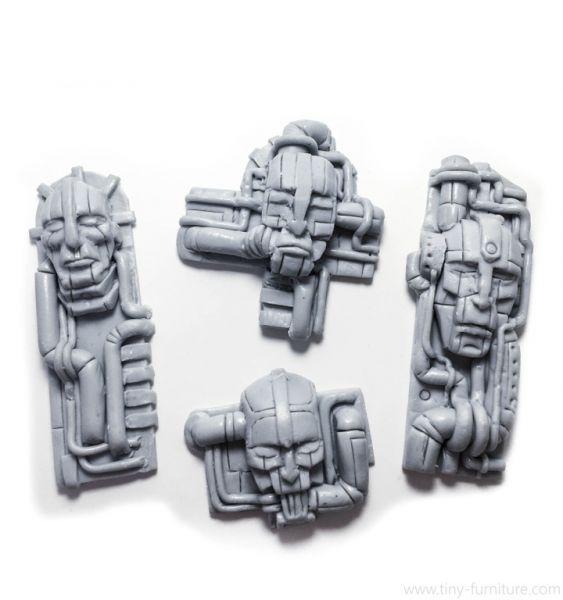 Dwemer Temple bas-reliefs Set v.1 / Dwemer Wandrelief Set v.1