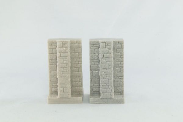 3cm Dungeon wall with Buttress x2