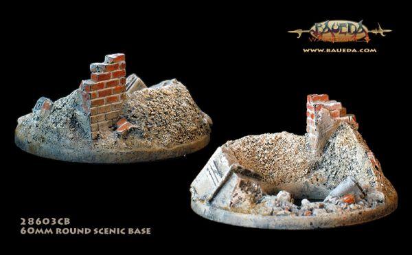 Shellhole - 60mm Round Scenic Base