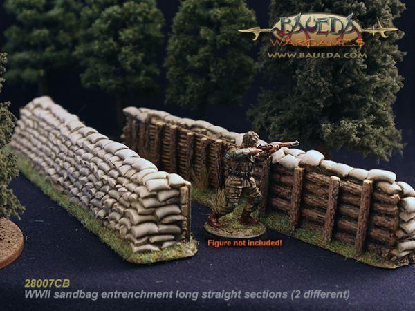 2x Sandbag entrenchment long / 2x Sandsack Stellung lang