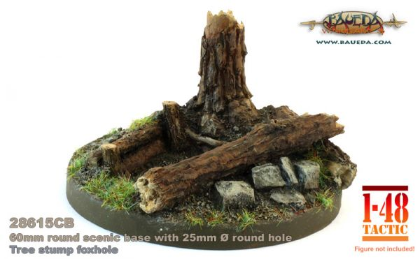 Trunk Foxhole - 60mm Round Scenic Base