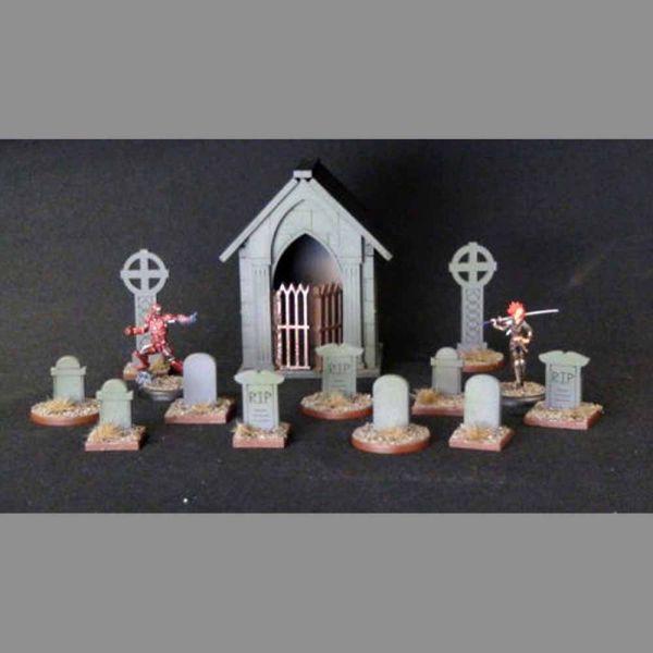 Graveyard & Cemetery - Wild West Scenics