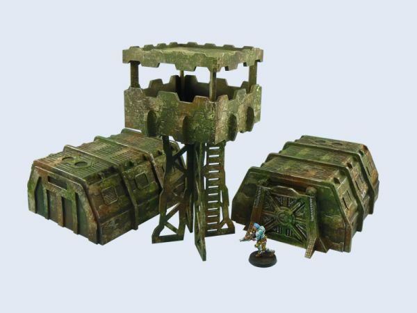 Ein komplettes Camp für wenig Geld. Das Set ist ein super Einsteigerpaket z.B. für Spieler der imperialen Armee von WH40K.