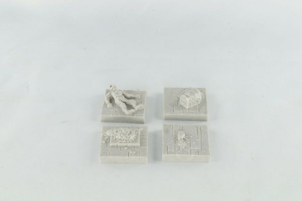 3cm x 3cm dungeon Character Floors x4 Different