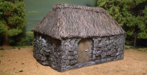 Die rustikale Hütte
