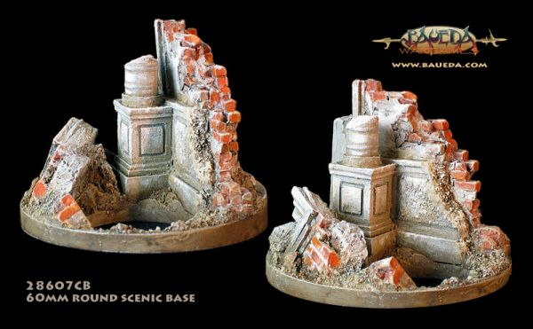 Ruined Gov Corner - 60mm Round Scenic Base