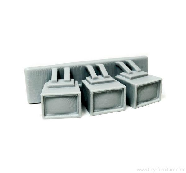 Nuclear Shelter wall-mounted TVs / Atombunker Röhrenmonitore - wandmontiert