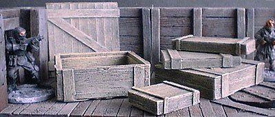 Wooden Crates x5 Set 1