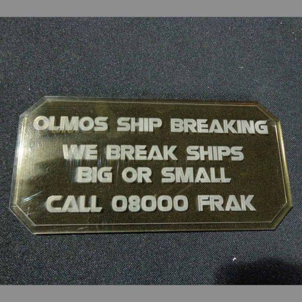 Sign G (Olmos Ship Breaking) - Sci-Fi Scenics