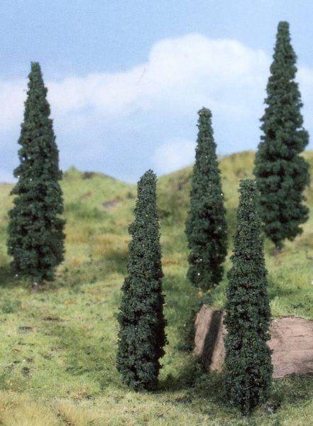 5 Zypressen mit typischer Wuchsform sind im Lieferumfang enthalten.
