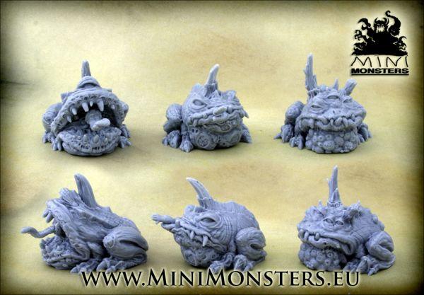 3 PlagueToads / 3 Seuchenkröten von Minimonsters