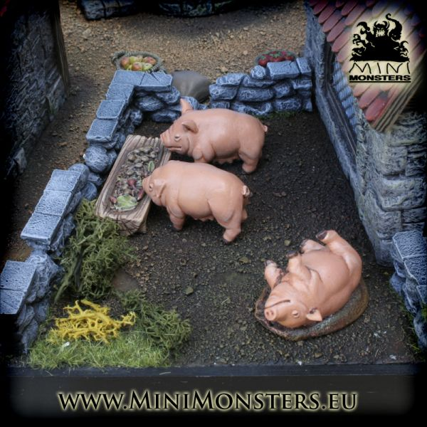 Three Pigs & Trough von Minimonsters