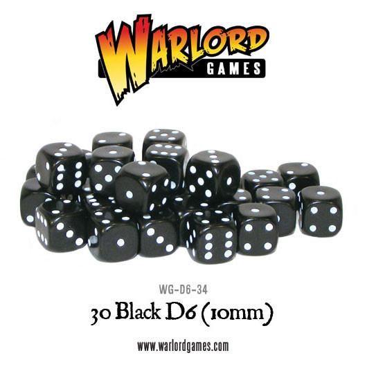 schwarze 10mm Würfel (W6)