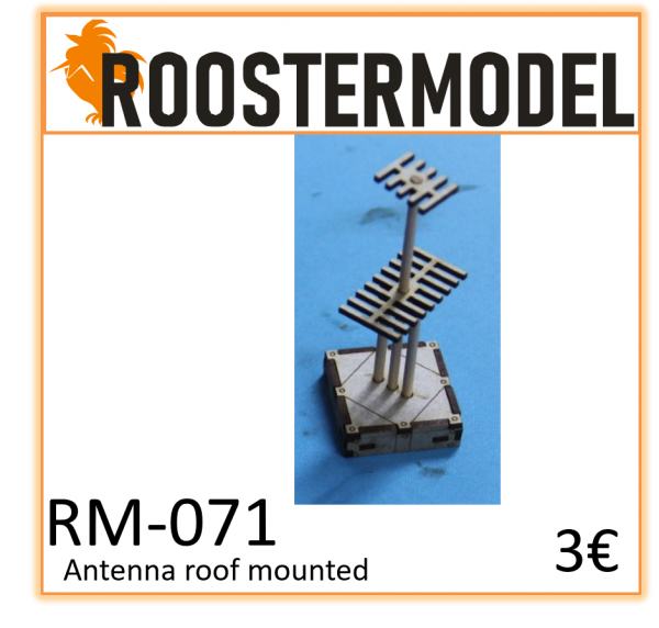 Antenna roof mounted