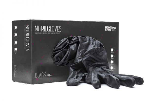 100 Nitril Handschuhe schwarz (Einmal) Größe: S