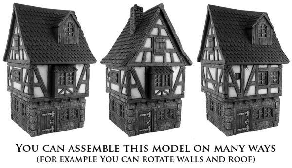 Durch zahlreiche Zusatzteile (alle im Set enthalten) lassen sich viele individuelle Gebäude bauen.
