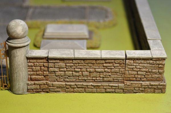 6cm Cemetery Wall x2