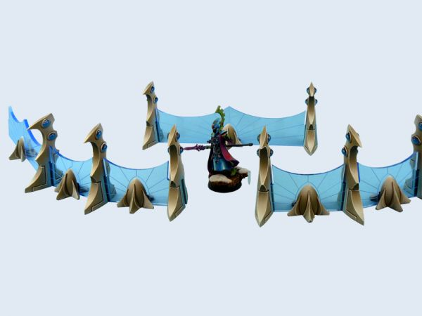Eldarspieler wird es freuen, endlich eine stylische Verteidigungslinie für ihre Tabletop Armee