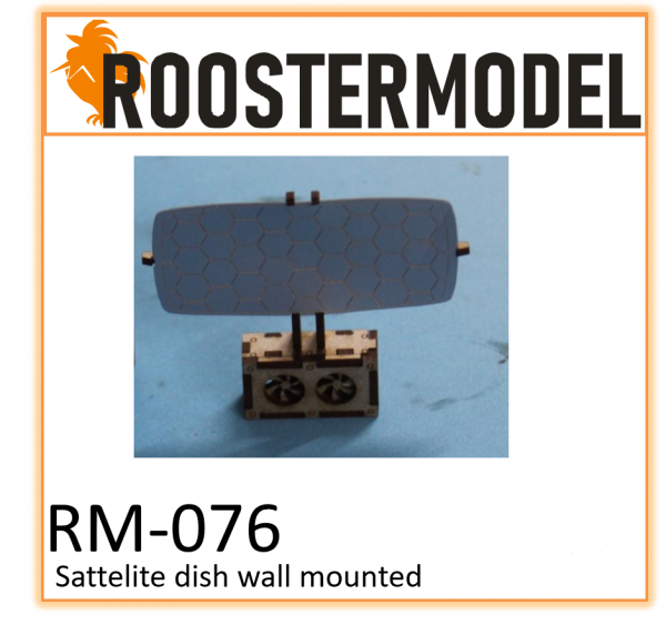 Satelite dish wall mounted