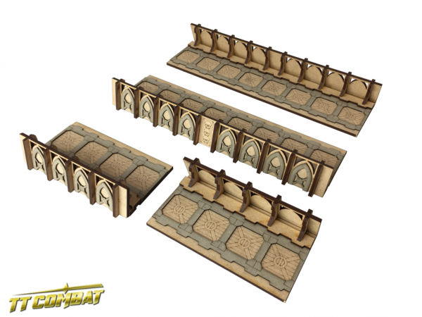 Fortified Trench Straight Sections - Sci-Fi-Gothic Scenics