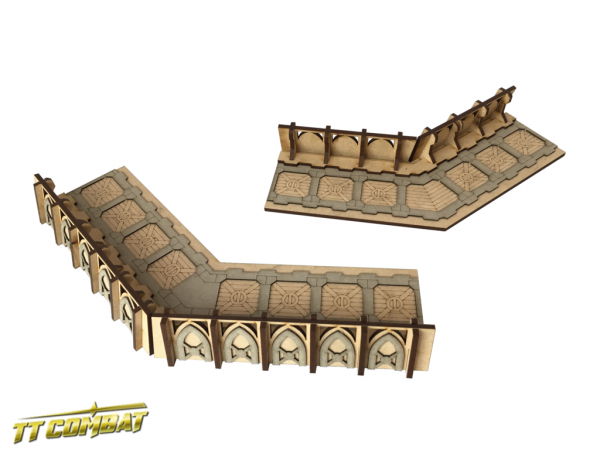 Fortified Trench Small Corner Sections - Sci-Fi-Gothic Scenics
