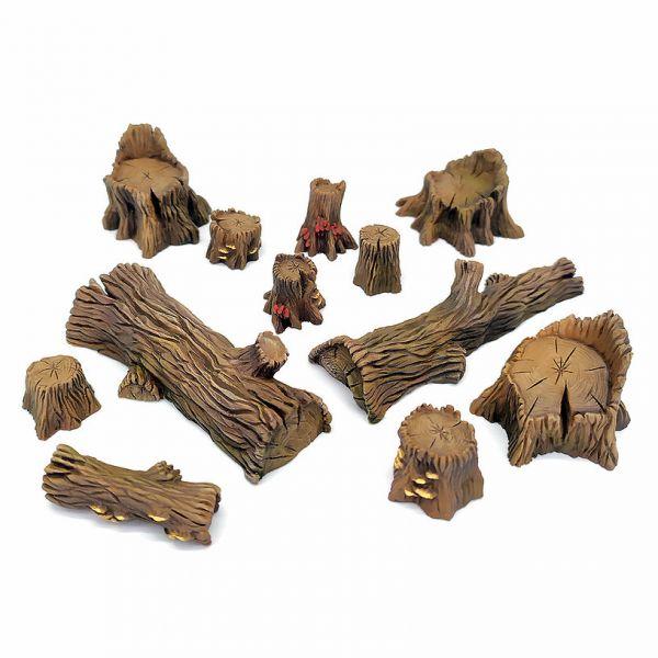 Big Wood Set / Großes Baumstümpfe und Baumstämme Set