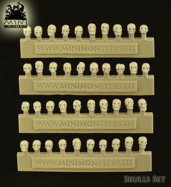 Diese Totenschädel sind im Lieferumfang enthalten