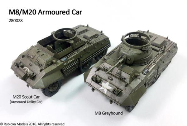 Hier sind beide Varianten zu sehen die mit dem Bausatz von Rubicon Models gebaut werden können.